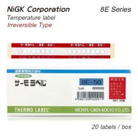 NiGK 8E-Series แถบวัดอุณหภูมิแบบ 8-points | 50 to 160℃ | 20pcs/pack