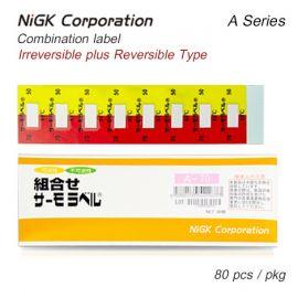 NiGK A Series แถบวัดอุณหภูมิแบบ Combination | 65 to 90°C | 80pcs/ 1pack