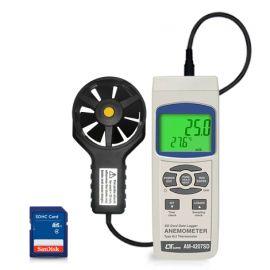 Lutron AM-4207SD เครื่องวัดและบันทึกความเร็วลม (3in1) | SD Card