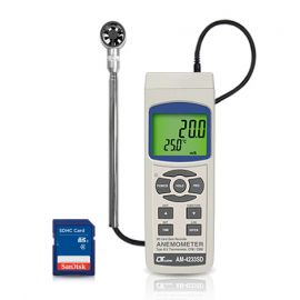 Lutron AM-4233SD เครื่องวัดและบันทึกความเร็วลมและปริมาตรลม (Mini Vane) | SD Card