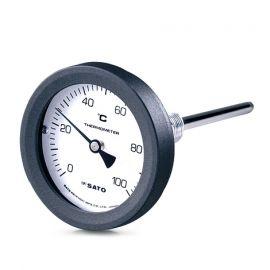skSATO SK-2087-00 BM-T-75P Bimetal Thermometers ที่วัดอุณหภูมิความยาว 100mm (0 ถึง 50°C)