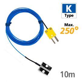 Rixen GK-02-PS-10M โพรบวัดอุณหภูมิมีรูสำหรับยึดติด Max.250℃ (Type K)