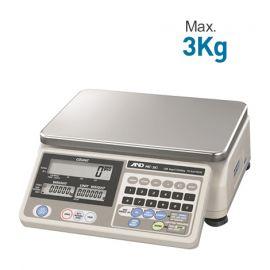 AND HC-3Ki เครื่องชั่งน้ำหนักดิจิตอล | Max.3Kg
