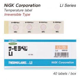 NiGK LI-Series แถบวัดอุณหภูมิแบบ Single-point | 40 to 250℃ | 40pcs/pack