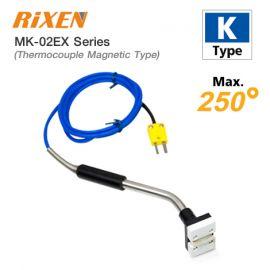 Rixen MK-02EX Series โพรบวัดอุณหภูมิพื้นผิวแบบแม่เหล็ก Max. 250℃ (Type K)