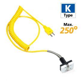 Rixen MK-01 โพรบวัดอุณหภูมิพื้นผิวแบบแม่เหล็ก Max. 250℃ (Type K)