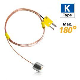 Rixen MK-07 โพรบวัดอุณหภูมิพื้นผิวแบบแม่เหล็ก Max.180℃ (Type K)