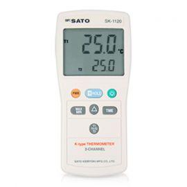 SK Sato SK-1120 เครื่องวัดอุณหภูมิจอ LCD ขนาดใหญ่ (2 ช่องโพรบ)