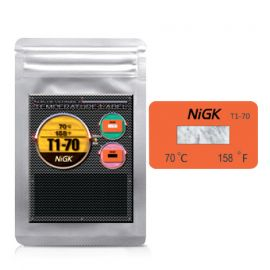 NiGK T1 Series แถบวัดอุณหภูมิแบบ Irreversible | 70 to 100°C | 40pcs/ 1pack