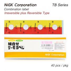 NiGK TB Series แถบวัดอุณหภูมิแบบ Combination | 65 to 90°C | 40pcs/ 1pack