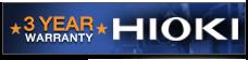 HIOKI 3 Years Warranty