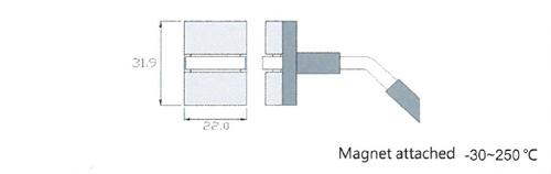 Rixen MK-02EX Magnetic surface temperature probe Max.250℃ (Type K)