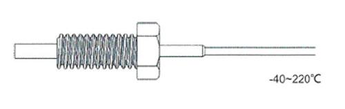 Rixen TK-01 โพรบวัดอุณหภูมิชนิดเกลียว Max.250℃ (Type K)