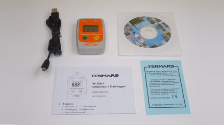 Tenmars TM-306U เครื่องบันทึกอุณหภูมิ | IP54