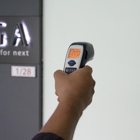 LEGA LT-760GX เครื่องวัดอุณหภูมิอินฟราเรด (with thermocouple Type K)   -60 to 760℃